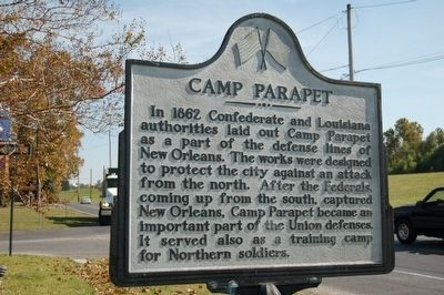 Camp Parapet Marker image. Click for full size.