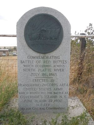 Battle of Red Buttes Marker image. Click for full size.