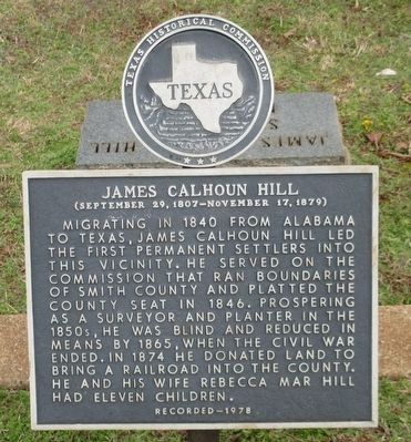 James Calhoun Hill Marker image. Click for full size.