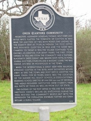 Omen (Canton) Community Marker image. Click for full size.