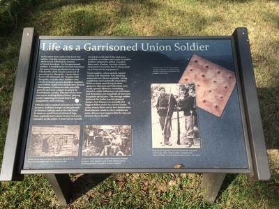 Life as a Garrisoned Union Soldier Marker image. Click for full size.