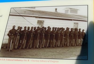 U.S. Colored Infantry, Co. E image. Click for full size.
