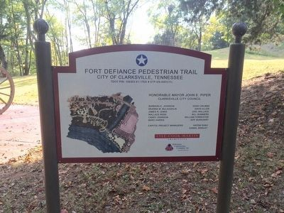 This marker is part of the Fort Defiance Pedestrian Trail image. Click for full size.
