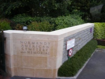 Entrance to Normandy American Cemetery and Memorial image. Click for full size.