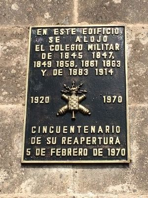 The Military College of Mexico Marker image. Click for full size.