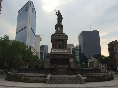 Monument to Cuauhtémoc and His Warriors Marker image. Click for full size.