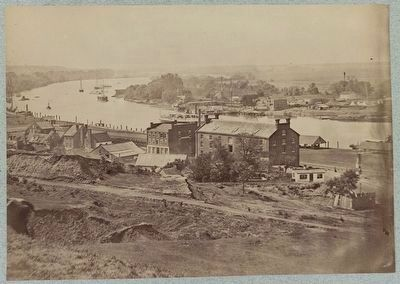 View of James River at Rocketts, Richmond, Va. image. Click for full size.