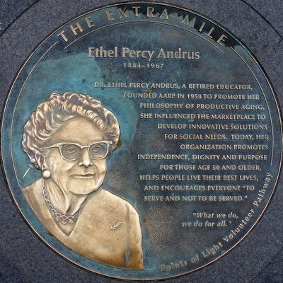 Dr. Ethel Percy Andrus Marker image. Click for full size.