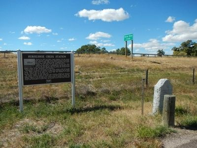 Horseshoe Creek Pony Express Station Marker image. Click for full size.