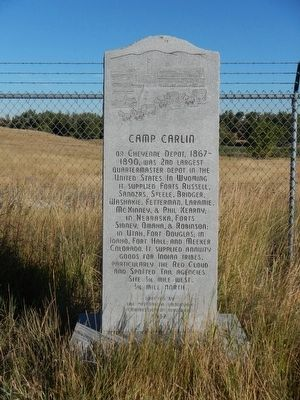 Camp Carlin Marker image. Click for full size.