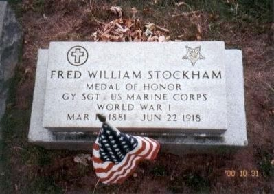 Gy Sgt Fred W. Stockham, Medal of Honor Recipient-Bois du Belleau image. Click for full size.
