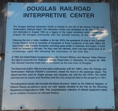 Douglas Railroad Interpretive Center Marker image. Click for full size.