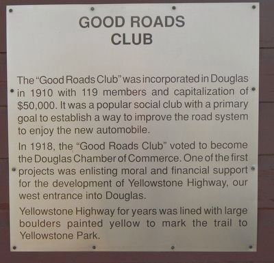 Good Roads Club Marker image. Click for full size.