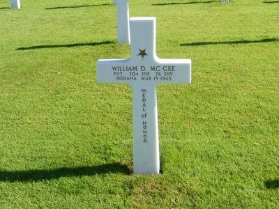 William D. McGee Medal of Honor Recipient World War II image. Click for full size.