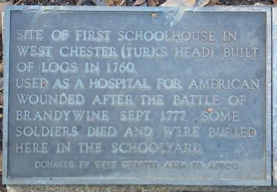Site of the First Schoolhouse Marker image. Click for full size.