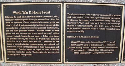 World War II Home Front Marker image. Click for full size.