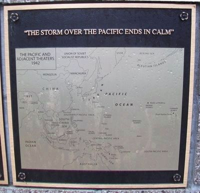 """The Storm Over the Pacific Ends in Calm"" Marker image. Click for full size."