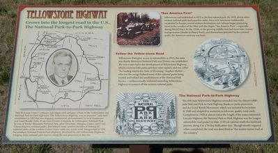 Yellowstone Highway Marker image. Click for full size.