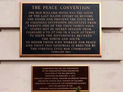 The Peace Convention Marker image. Click for full size.