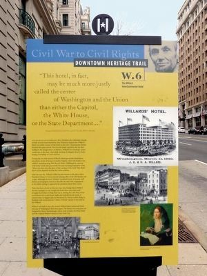 Willard Inter-Continental Hotel Marker - Updated image, Click for more information