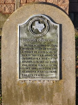 Munson Cemetery Marker image. Click for full size.