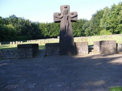 German War Cemetery Vossenack-Cross at the Entrance image. Click for full size.