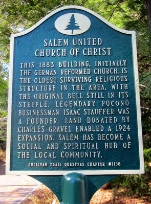 Salem United Church of Christ Marker image. Click for full size.
