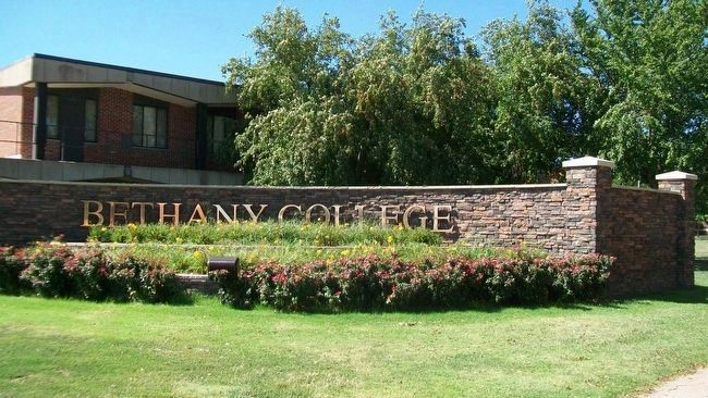 Bethany College Entrance image. Click for full size.