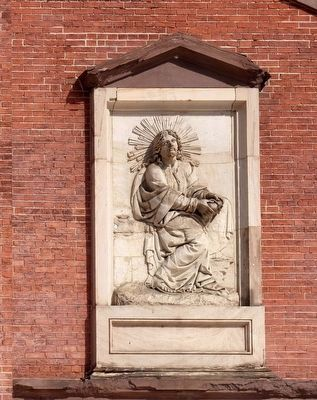 Christ Breaking the Bread<br>Bas-relief by Antonio Capellano. Photo, Click for full size