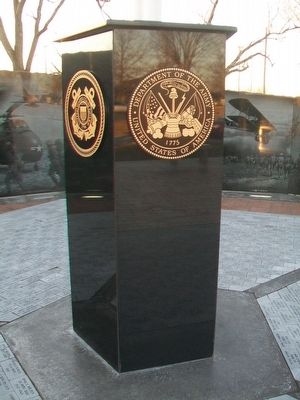 Chanute Area Veterans Memorial Flag Pole Base image. Click for full size.