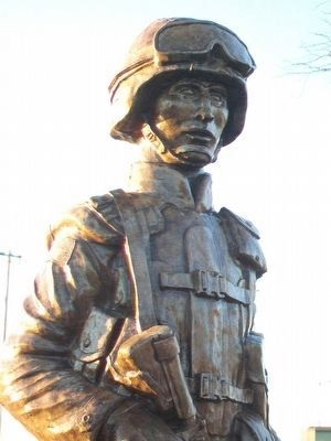 Chanute Area Veterans Memorial Statue Detail image. Click for full size.