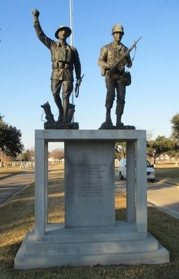 "Tarrant County War Memorial ""Spirit of the American Doughboy"" Marker image. Click for full size."