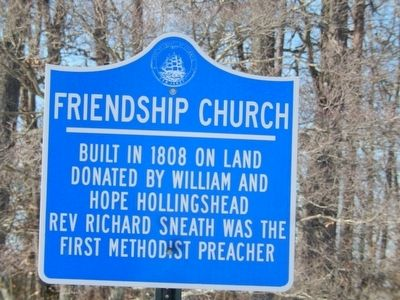 Friendship Church Marker image. Click for full size.
