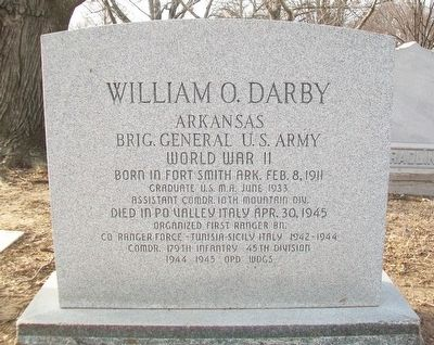 William O. Darby Grave Marker image. Click for full size.