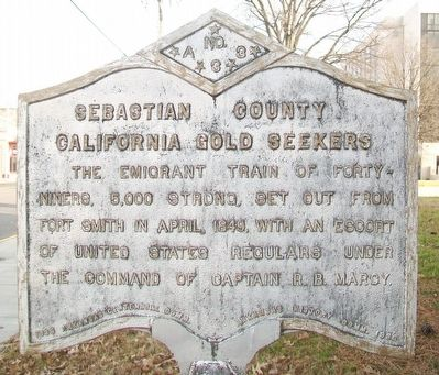 Sebastian County California Gold Seekers Marker image. Click for full size.