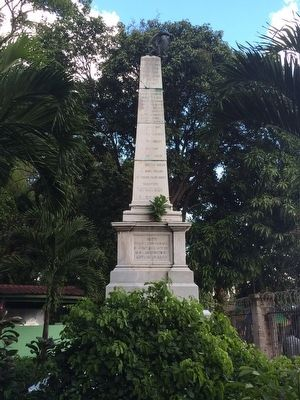 Monument to the Salvadoran Soldiers of 1863 - 1885 Marker image. Click for full size.