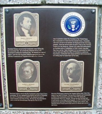 United States Commanders in Chief Marker image. Click for full size.