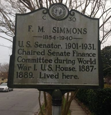 F. M. Simmons Marker image. Click for full size.