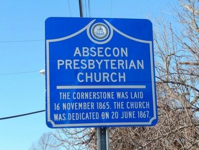 Absecon Presbyterian Church Marker image. Click for full size.