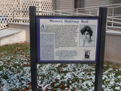 Women's Heritage Trail Marker image. Click for full size.