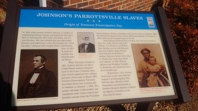 Johnson's Parrottsville Slaves Marker image. Click for full size.