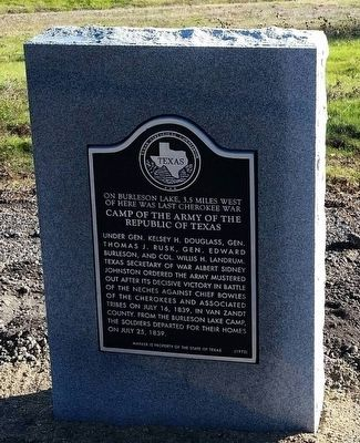 Camp of the Army of the Republic of Texas Marker image. Click for full size.