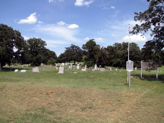 Wood Cemetery with Marker image. Click for full size.