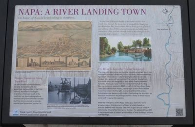 Napa: A River Landing Town Marker image. Click for full size.