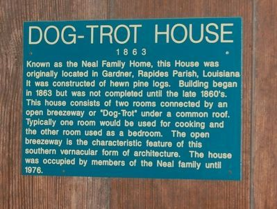 Dog-Trot House Marker image. Click for full size.