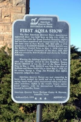 First AQHA Show Marker image. Click for full size.