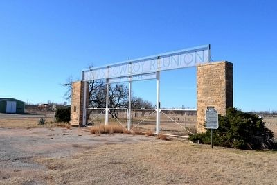 Entrance to Grounds of Texas Cowboy Reunion image. Click for full size.
