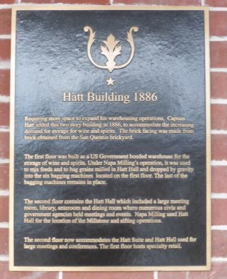 Hatt Building 1886 Marker image. Click for full size.