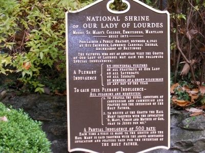 National Shrine of Our Lady of Lourdes Marker image. Click for full size.