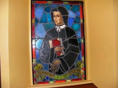 Elizabeth Ann Seton stained glass inside the Chapel image. Click for full size.